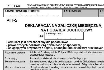 formularz pit-5